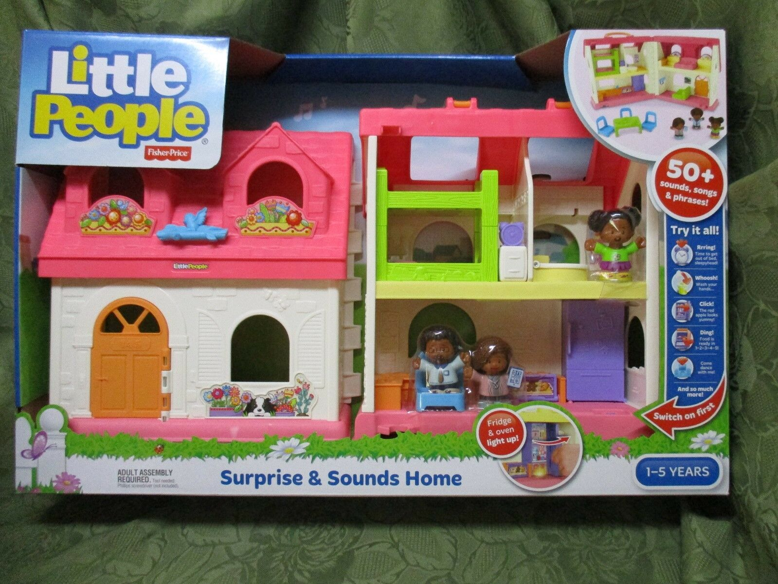 Fisher Price Little People Surprise Sounds Home House light family Tessa NEW AA