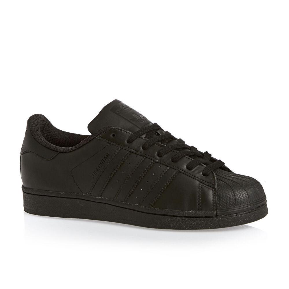 Adidas superstar foundation core noir rétro baskets décontractées tailles 7-13 AF5666-