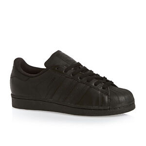 eee9e5ab5d0 Image is loading Adidas-Superstar-Foundation-Core-Black -Retro-Casual-Trainers-