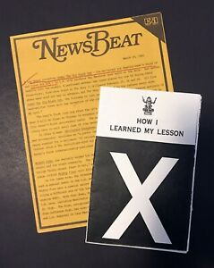 X-The-Band-1982-Under-The-Big-Black-Sun-Lyric-Song-Book-1982-Press-Release-Orig