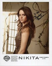 LYNDSY FONSECA HAND SIGNED 8x10 COLOR PHOTO+COA      GORGEOUS ACTRESS     TO BOB