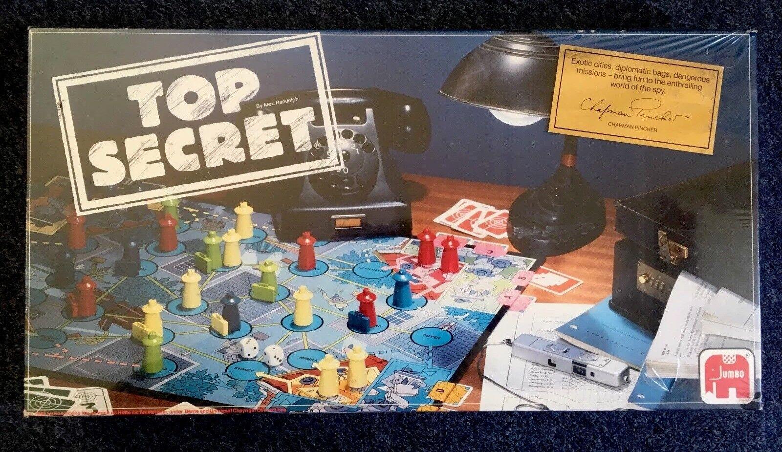 RARE Vintage Jumbo Gioco da tavolo famiglia TOP SECRET (1985) Nuovo e Sigillato UK
