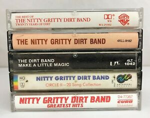Lot-of-5-Nitty-Gritty-Dirt-Band-Cassette-Tapes