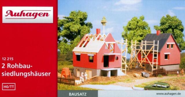 2 Rohbausiedlungshäuser Auhagen H0 Bausatz TT 12215
