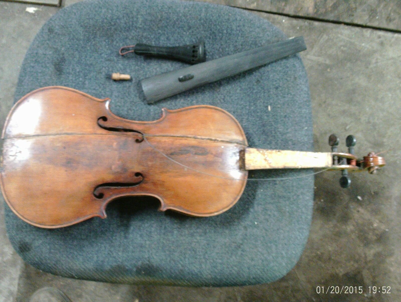 Vintage German Violin For Parts Or Repair