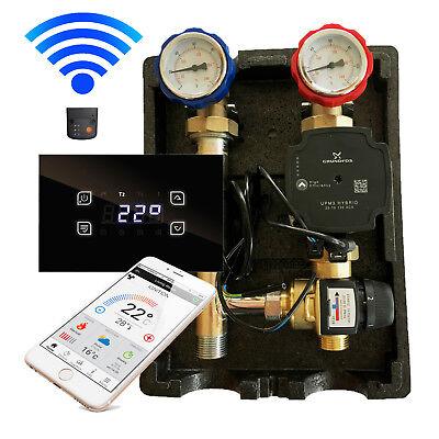 Gruppo Pompe Con Miscelatore Esbe 20-55 ° C + Glass Touch Controllo Incl. Modulo Wlan-mostra Il Titolo Originale Ultimo Stile