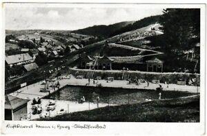 Ansichtskarte Luftkurort Tanne im Harz - Waldfreibad/Schwimmbad/Freibad 1938