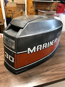 1984 Mariner 30 Hp Outboard Hood Top Cowl Cowling Shroud Freshwater Mn Ebay