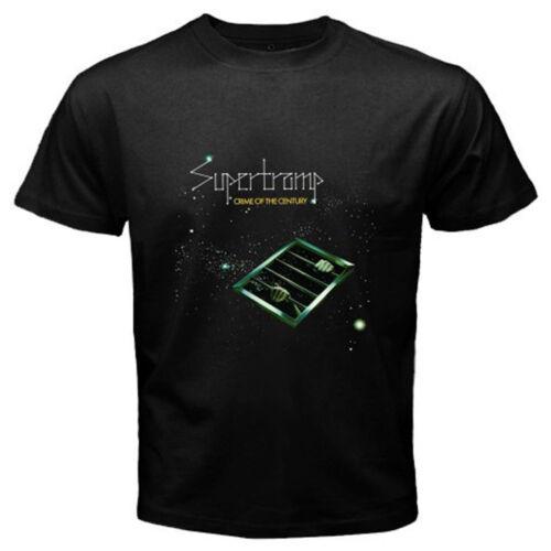 New Supertramp Crime of the Century Rock Legend Homme T-Shirt Noir Taille S-3XL