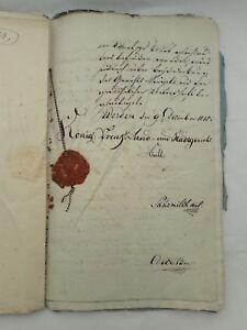 Lot-of-Old-Documents-18-19C-Friedrich-Wilhelm-Konig-Von-Preussen-Werden-Germany
