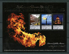 Norfolk Island 2012 MNH Diamond Jubilee Queen Elizabeth II 3v M/S Royalty Stamps