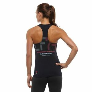 4e803167086a4a New Reebok Crossfit CF Compression Tank Top SFW Women s Navy spartan ...