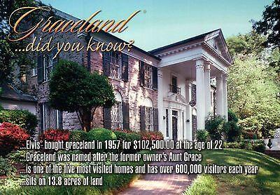Tennessee Graceland Garden /& Trees Postcard Home of Elvis Presley Memphis