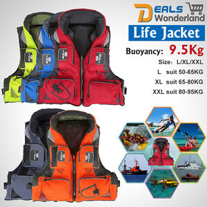 Fish-Polyester-Adult-Safety-Life-Jacket-Survival-Vest-Swim-Boating-Drifting