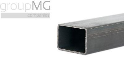 Rechteckrohr Stahlrohr Hohlprofil Vierkantrohr 1000mm L/änge 35x25x2mm Blank