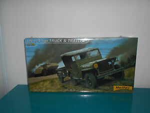 01-02-17-1-willys-jeep-US-1-4-Truck-and-trailer-Heller-maquette-kit-1-35