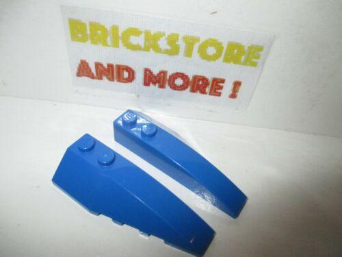 2x Wedge Aile 2x6 6x2 41747 41748 Left /& Right Bleu//Blue//Blau Lego