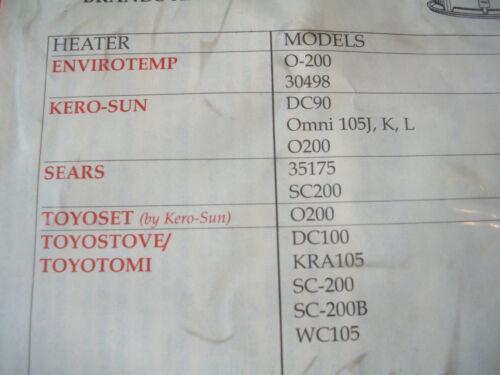 "Toyoset //Kero-Sun  Omni O200 Kerosene Heater Wick w//Pins/""BEST QUALITY/"" FAST SHIP"