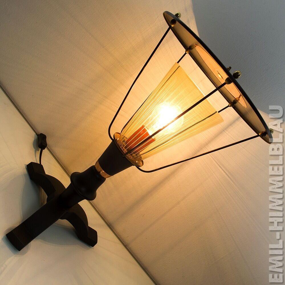 ALTE LATERNE LAMPE TISCHLAMPE 50s TISCHLATERNE LEUCHTE 60s MID CENTURY