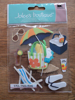 EK SUCCESS JOLEE'S BOUTIQUE SUMMER GEAR DIMENSIONAL STICKERS BNIP