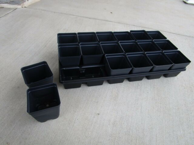 Set Of 3 Divided Trays And 54 5 Inch Square Deep Nursery Pots Landmark