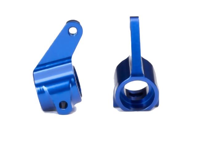 Traxxas TRA3636A Aluminum Steering Blocks Blue 1//10 Slash 2wd