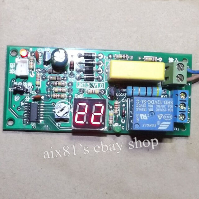 AC 220V Time Delay Switch Relay Control Module for LED Lamp Light Lift Projector