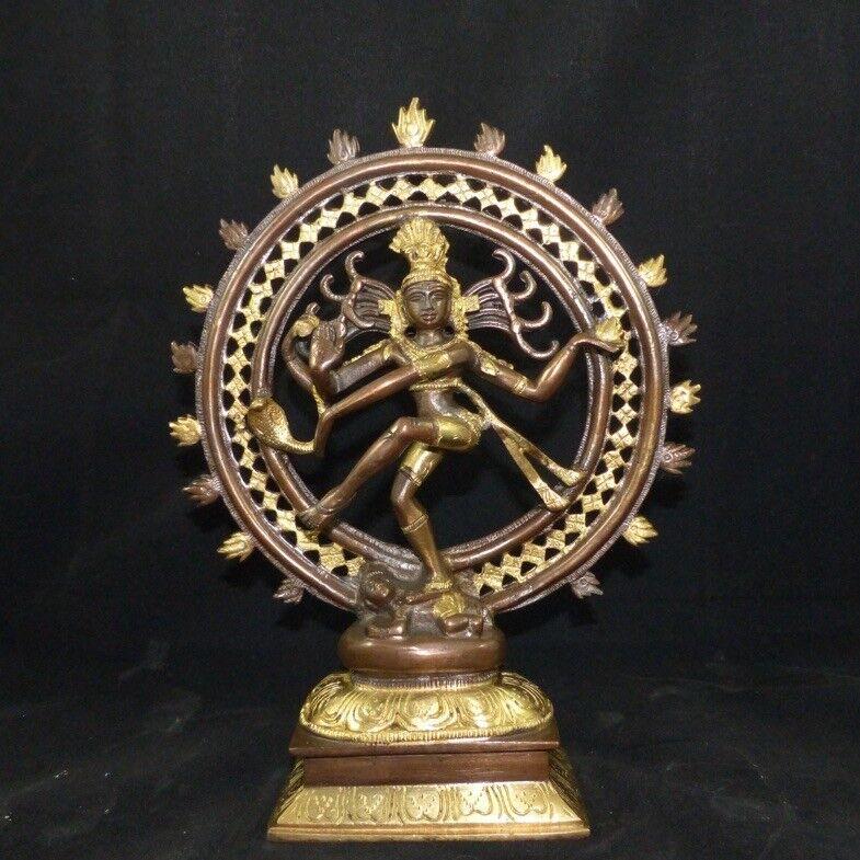 Shiva Nataraja Jali, patinierter latón fundido de la India