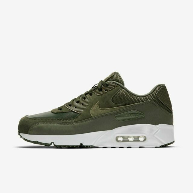 Nike Air Max 90 Ultra 2.0 Ltr 924447 300 Leather Cargo Khaki Med Olive Rare