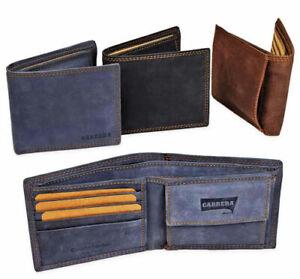comprare popolare 7263d e6ca1 Dettagli su Carrera Jeans Portafoglio Uomo Mini Vera Pelle Porta Carte di  Credito e Monete