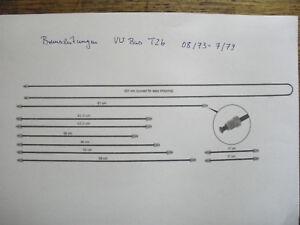 = Set- Bremsleitung - alle 10 Stück auf Bild- VW Bus T2 und T2b - BJ 8.73-7.79 =
