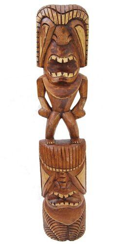 Tiki personnage 100 cm Holzfigur au Tiki Hawaii Style Maui îles de Pâques