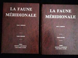 Faune-meridionale-par-J-Crespon-2-tomes-reimpression-de-1844