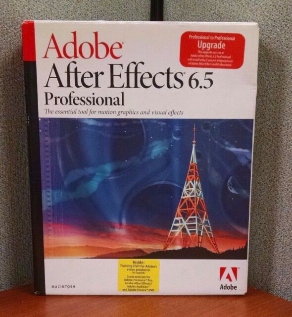 Adobe® After Effects 6 5 Professional MAC Upgrade + Video Products Training  DVD
