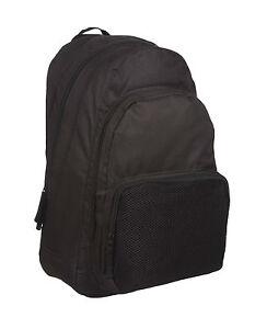 NEW Large Backpack Rucksack Bag SPORTS HIKING SCHOOL WORK 100% PLAIN ... 9e012ac77cc5a