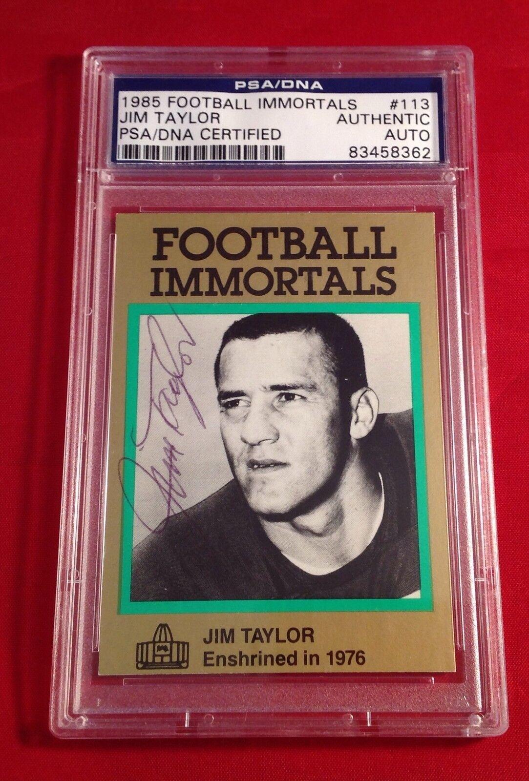 Jim Taylor 1985 Football Immortals Card PSA/DNA Slabbed #83458362