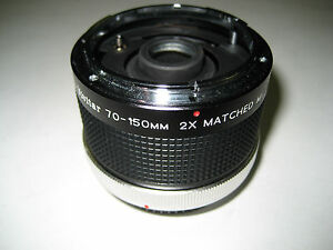 Vivitar MC 70-150mm 2x Matched Multiplier for Canon C//FD