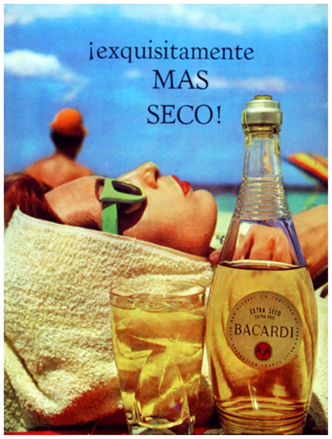 90. Art Decoration POSTER.Graphics to decorate home office.Bacardi extra seco Ad