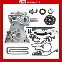 85-95 Toyota 22r 22re Timing Chain Cover Kit Heavy Duty Metal Steel Guide Pickup on Sale