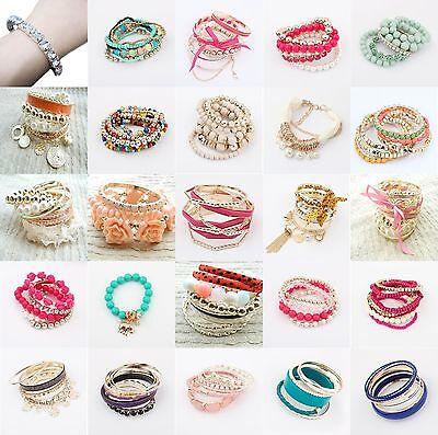 New Fashion Jewelry Multi Style Wholesale Multilayer Lady Party Bracelet Bangle