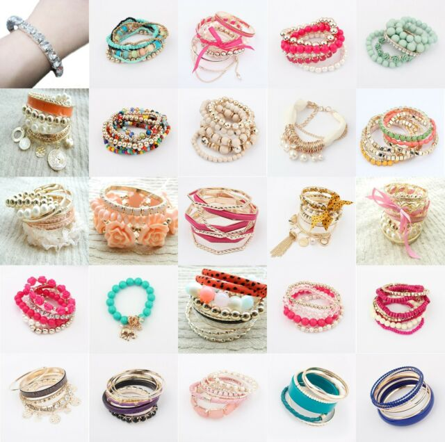 New Fashion Jewelry Multi Style Wholesale Multilayer Lady Party Bracelet Bangle