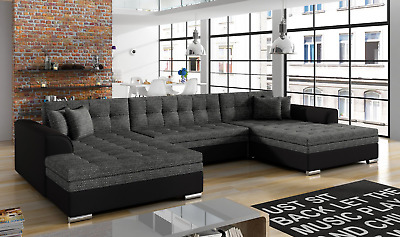 Ecksofa Sofa Polster Couch Wohnlandschaft U Form ...