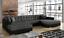 Ecksofa-Sofa-Polster-Couch-Wohnlandschaft-U-Form-Bettfunktion-Textil-Stoff-Big
