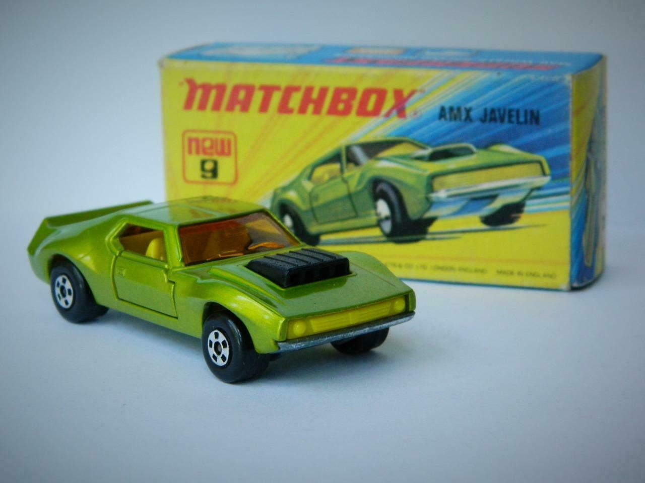 MATCHBOX LESNEY SUPERFAST AMX JAVELIN MINT IN EXCELLENT ORIGINAL I1 BOX 1972