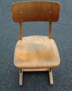 Casala schulstuhl kinderstuhl holzstuhl kufenstuhl schule stuhl vintage ebay - Kinderstuhl vintage ...