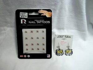 LSU-Tigers-Nail-Tattoos-amp-Earring-Pair