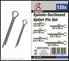 BGS - Metric - Split Pin Assortment - 1.6 - 3.2 mm - 135 Pc Set - 88138