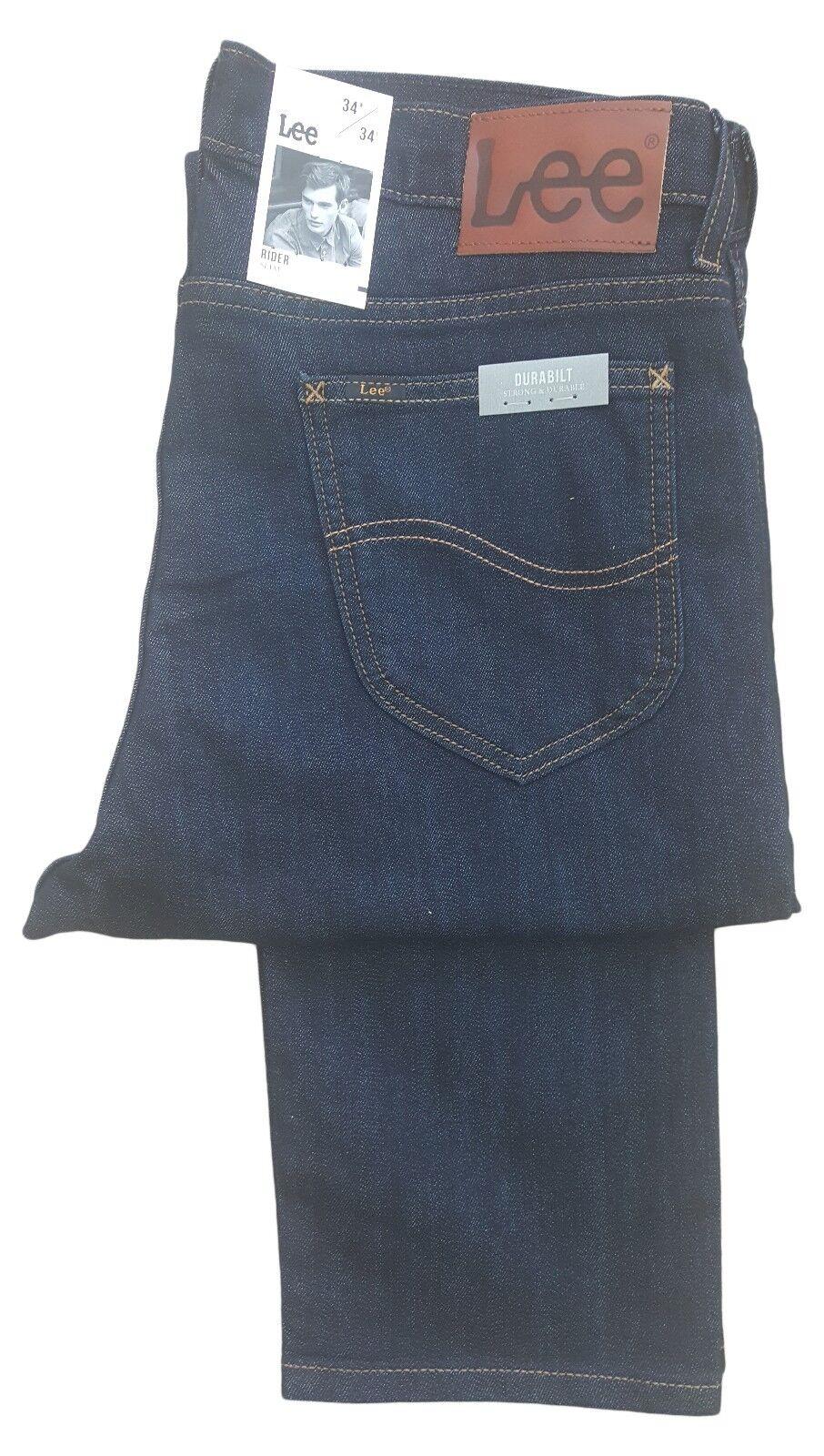 Lee Rider 36 = extra langes Leg enge Passform zip fly Jeans - Dunkles Indigoblau    Verschiedene Arten und Stile    Große Ausverkauf    Kompletter Spezifikationsbereich