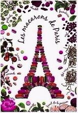 French Kitchen Dish/Tea Towel  Eiffel Tower Macaroons 100% Cotton Made In France