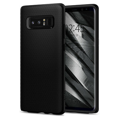 Spigen® Samsung Galaxy Note 8 [Liquid Air] Shockproof Black Case TPU Cover